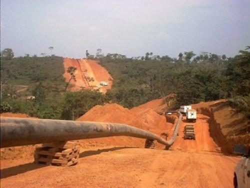 Lom Pangar Pipeline modification