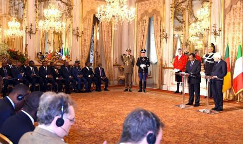 "Paul Biya in Italy: ""my government remains open to any dialogue which does not question the unity and diversity of the country"""