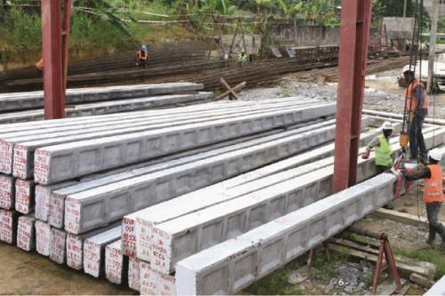 Eneo manufactured 6,500 concrete poles in collaboration with local SMEs in H1-2020
