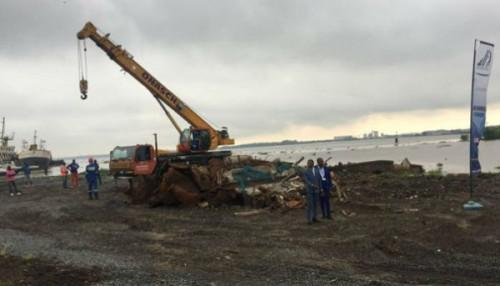 25 shipwrecks already removed from the Port of Douala under the Port Decongestion Program