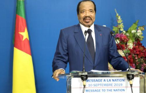 Cameroon to organize a dialogue by end Sept 2019 for the ongoing socio-political crisis (Paul Biya)