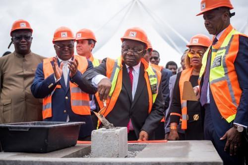 The cornerstone of Douala Grand Mall & Business Park was laid yesterday