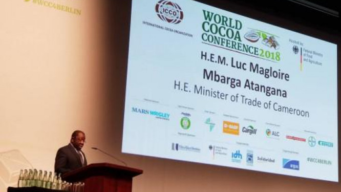 cameroon-s-trade-minister-denounces-the-low-cocoa-price-during-the-world-cocoa-conference-2018